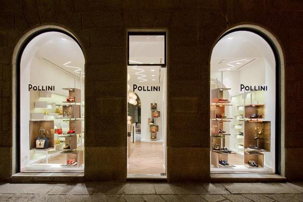 Pollini nuova boutique in Via della Spiga 15
