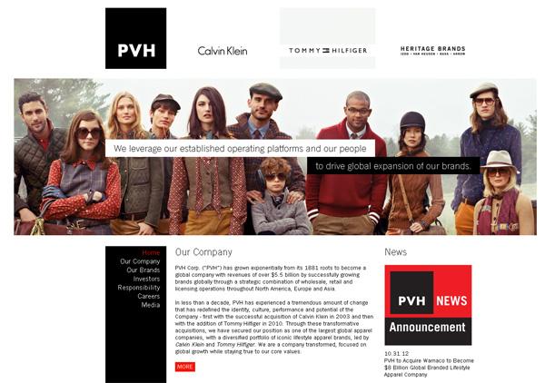 Pvh - Sito web