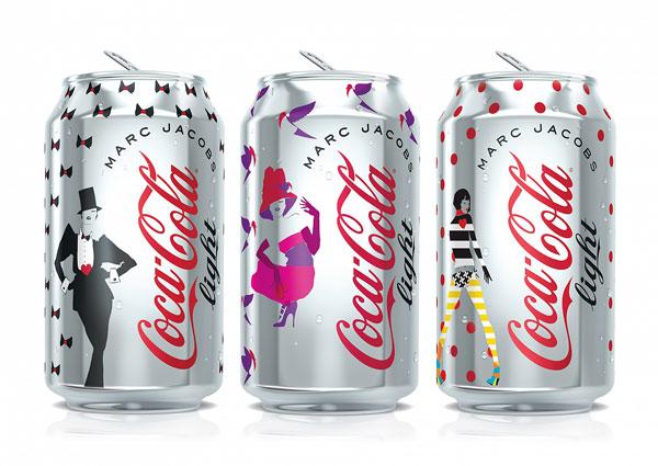 Le tre creazioni di Marc Jacobs per Coca-Cola light