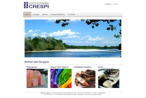 L'homepage del sito di Giovanni Crespi