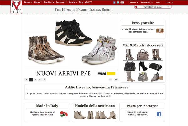 Uno screenshot del sito