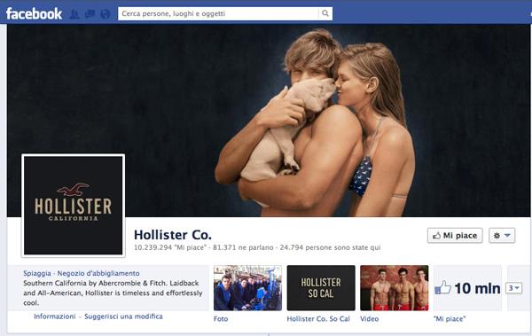 HOLLISTER PROFILO FACEBOOK