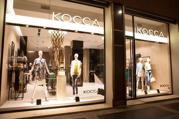 Le vetrine di Kocca in corso Buenos Aires