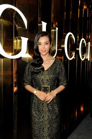 Li Bingbing allo stand Gucci Timepieces & Jewelry