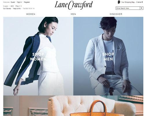 il sito di Lane Crawford