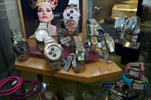 Vetrina di orologi