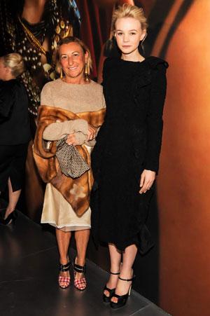 Miuccia Prada e Carrie Mulligan (Ph: BILLY FARRELL/BFAnyc.com)
