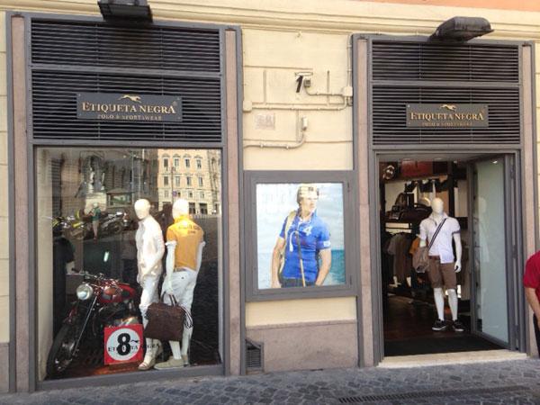 Lo store Etiqueta Negra a Roma