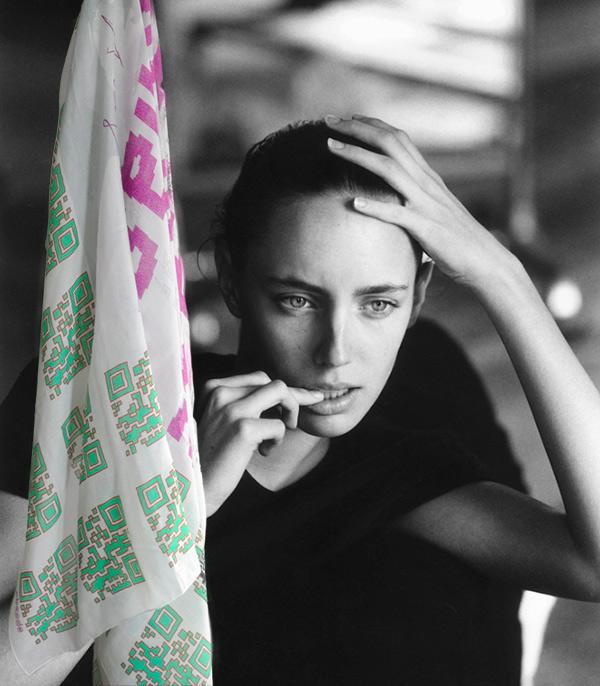 Una sciarpa disegnata da Paolo Bottazzi