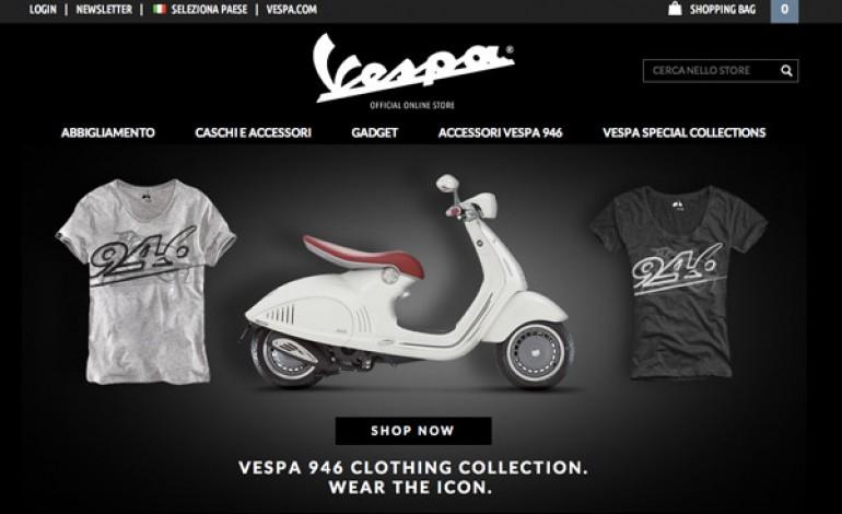 Nasce lo store on-line di Vespa
