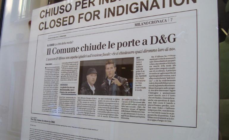"""Dolce e Gabbana, """"chiuso per indignazione"""""""