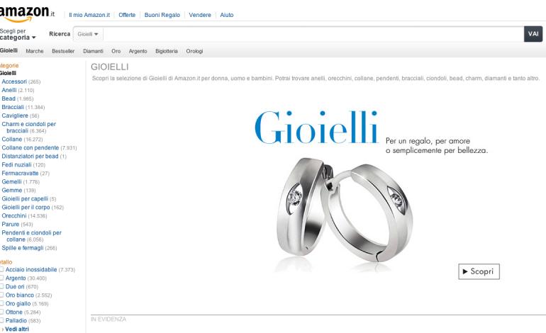 Amazon apre e-store di gioielli