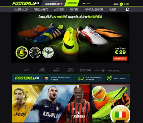 Il sito www.football4u.it