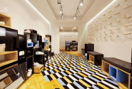 Lo store Serafini a Milano