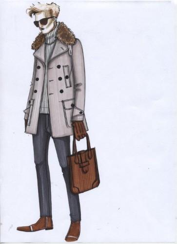Bozzetto della collezione uomo Daywear