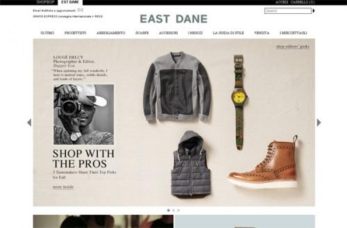Homepage di East Dane
