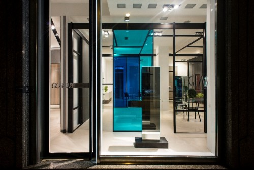 Il flagship store Glas Italia a Milano