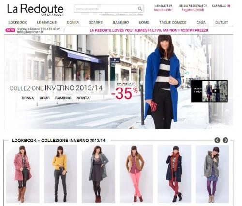 La Redoute - homepage del sito