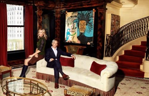 Tommy Hilfiger e sua moglie nell'attico al Plaza ( ph.CNBC)