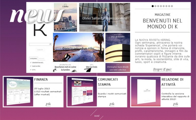 Kering lancia il quotidiano online K