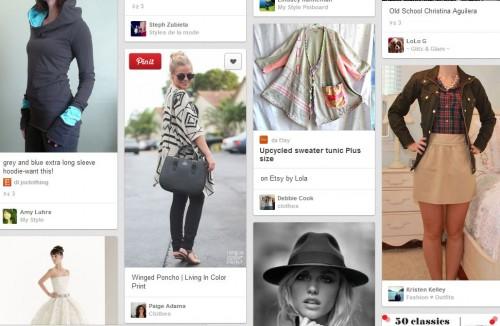 La pagina di Pinterest