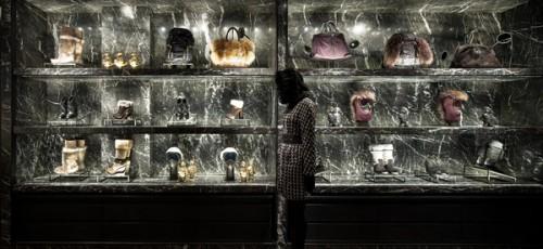 Il negozio Moncler di via Montenapoleone