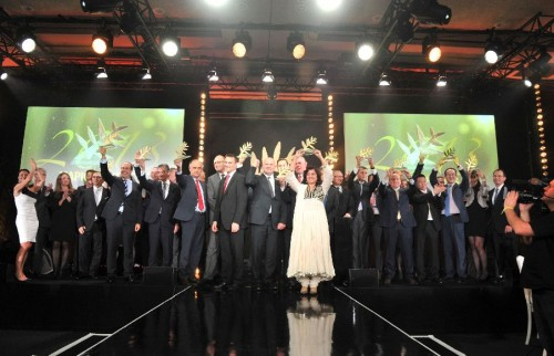 Un momento della cerimonia Mapic Awards 2013