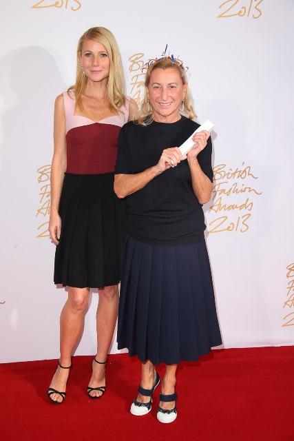 Gwyneth Paltrow & Miuccia Prada (International Designer of the Year)