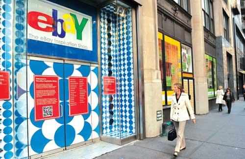 Uno store di eBay a New York