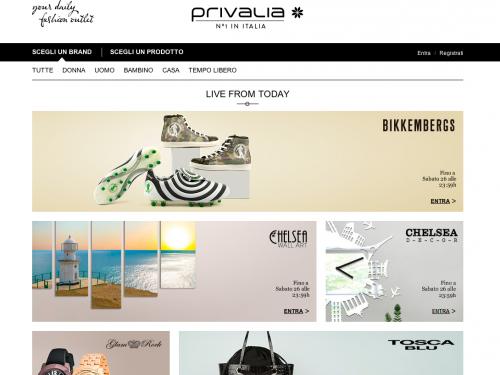 Homepage Privalia