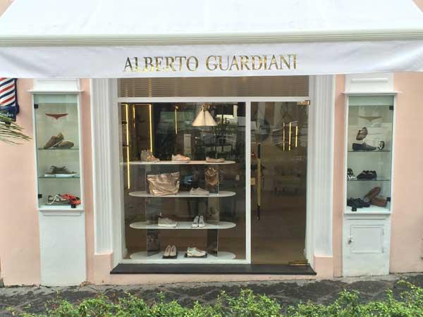 La boutique Alberto Guardiani a Capri