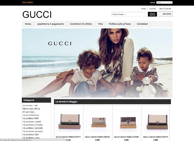 Sito di prodotti contraffatti di Gucci gucciborse2014.com
