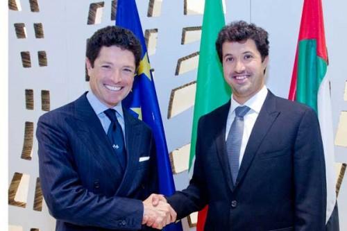 Matteo Marzotto, Presidente Fiera di Vicenza e HE Helal Saeed Al Marri, CEO Dwtc