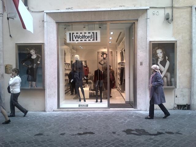 Wolford store Via Frattina Roma