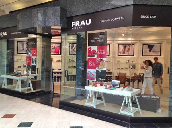 La vetrina dello store Frau a Los Angeles