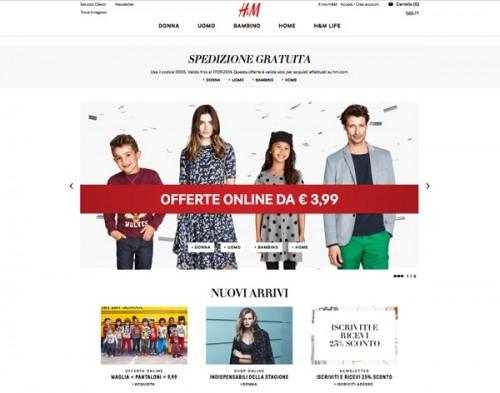 H&M, sito web