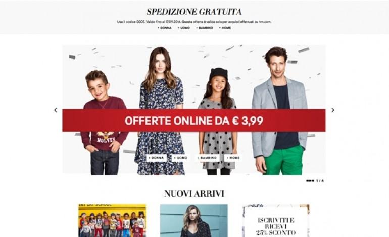 H&M lancia l'e-commerce anche in Italia