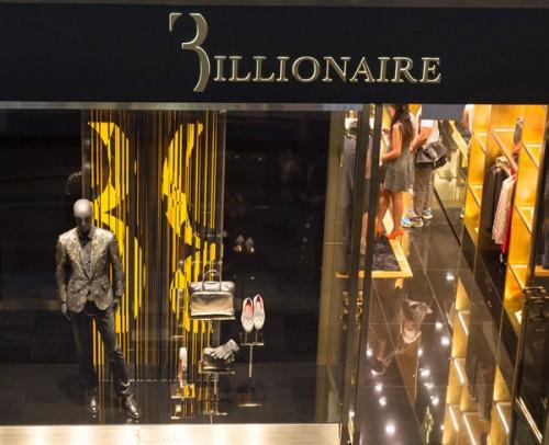 Il nuovo store Billionaire Couture di Singapore