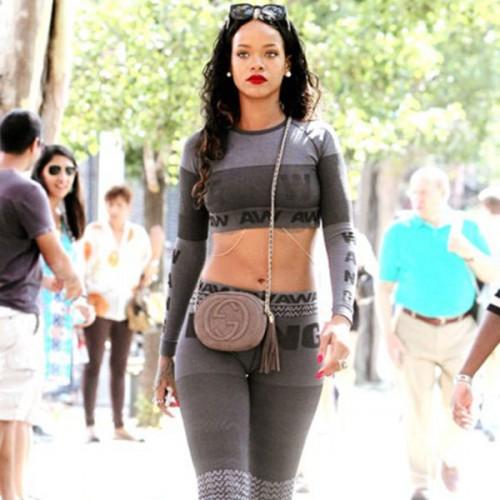 Rihanna in Alexander Wang for H&M  (profilo  Instagram alexanderwangny)