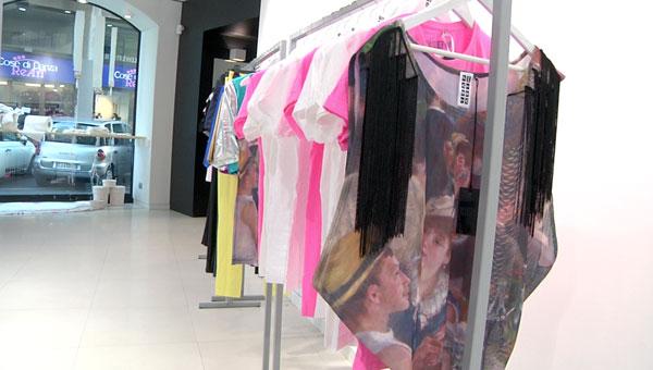 L'interno del flagship store