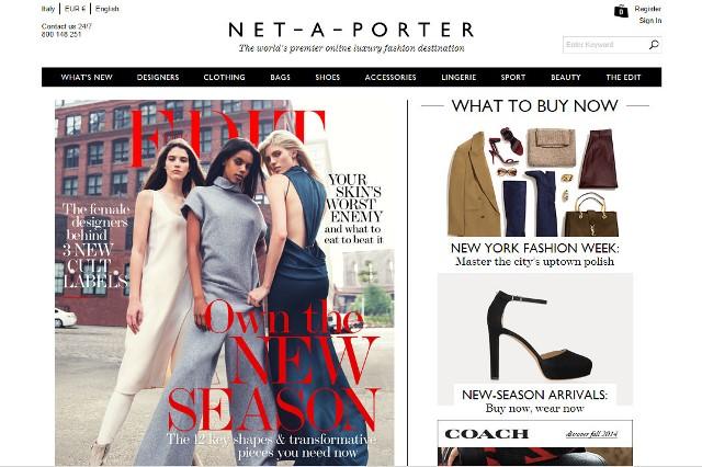 Home page Net-a-porter