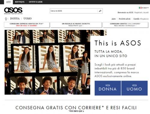 Asos - sito web
