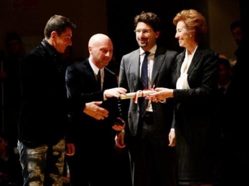 Stefano Gabbana, Domenico Dolce, Manfredi Palmeri e Letizia Moratti. Ph: Getty Images Europe