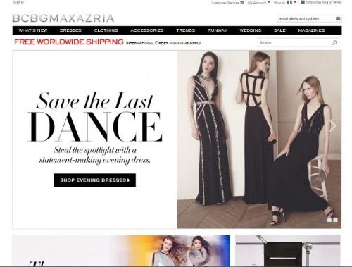 BCBG Max Azria home page online