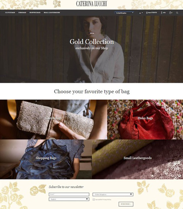 L'home page di caterinalucchi.it/shop
