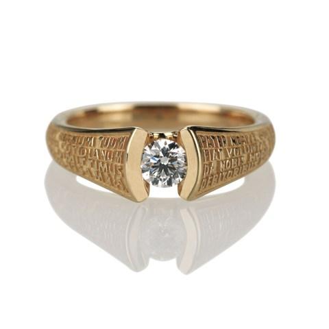 Unicus, anello Tuum in oro rosa