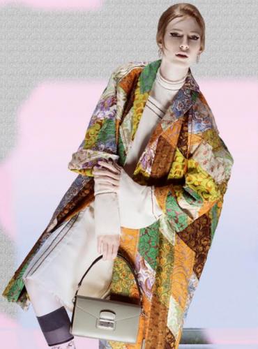 Uno scatto della campagna Prada p/e 2015.