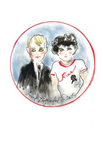 Un bozzetto di Karl Lagerfeld Kids