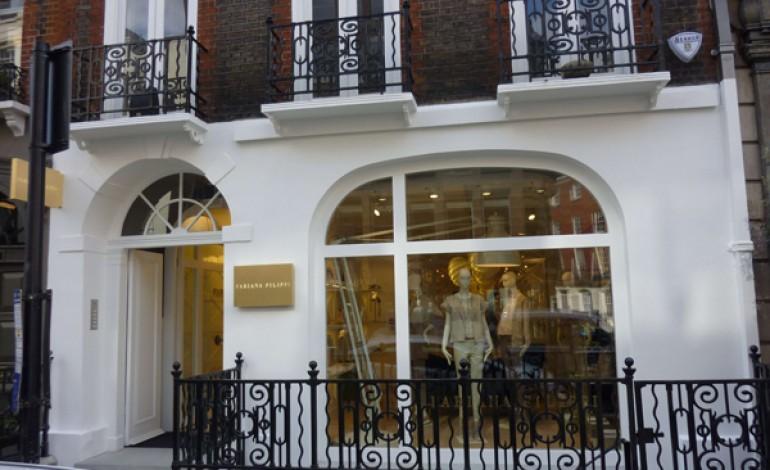 Vetrine su Londra per Fabiana Filippi