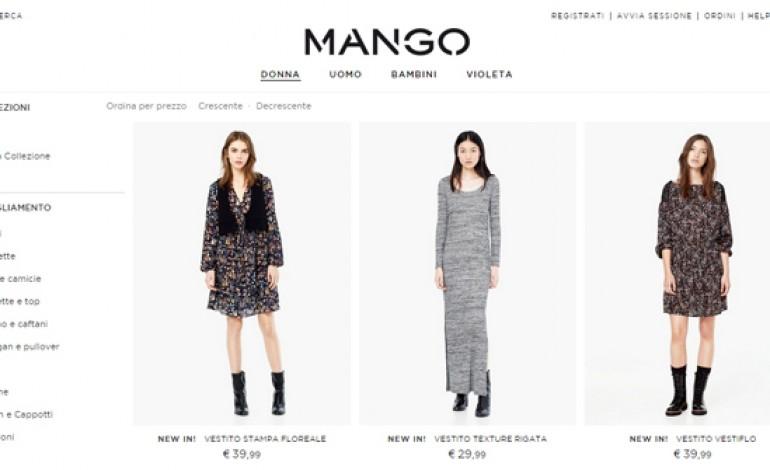 Mango, boom di vendite online